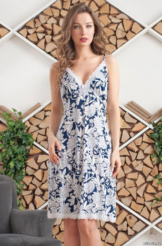 Трикотажная сорочка 6381 Madlen синий Mia Amore
