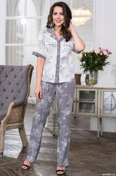 Комплект из вискозы (жакет, брюки) 6556 Коллет Mia Amore