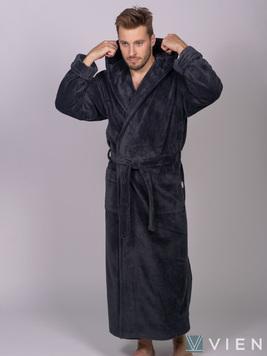 Мужской халат с капюшоном 702 Magistr антрацит Wien
