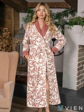 Женский бамбуковый халат 717 Gabrielle чайная роза Wien