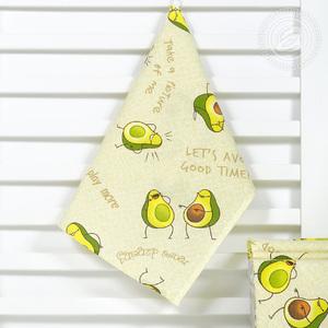 Полотенце из рогожки 50х70 (1 шт) Авокадос Артпостель