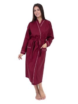 Вафельный халат бордовый Elintale