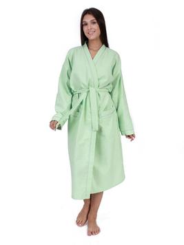 Вафельный халат светло-зеленый Elintale