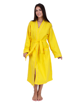 Вафельный халат желтый Elintale