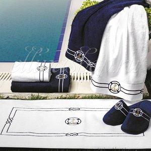 Marine  Якоря полотенце для ног Soft Cotton