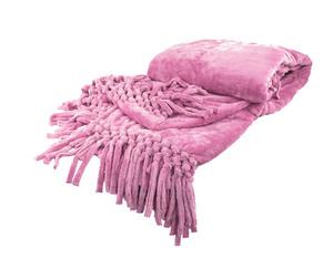Плед из велсофта с бахромой светло-лиловый Nappa Soft Tivolio