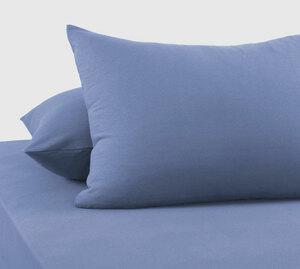 Наволочки из трикотажа серо-голубой Elin