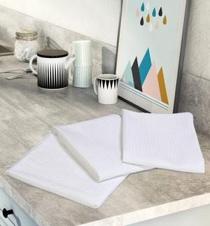 Комплект вафельных полотенец (3 шт) белый Elin