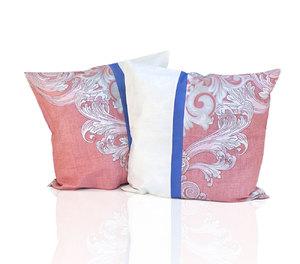 Комплект наволочек из сатина PS-020 Идальго-2 комби розовый-кремовый Elin