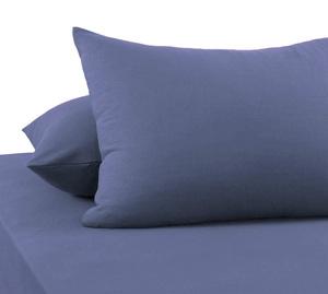 Наволочки из сатина PSO-002 серо-голубой Elintale