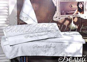 Rosemarine белый комплект полотенец 3шт. со стразами, кантом