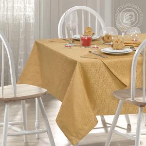 Скатерть с салфетками (6 шт) Шарлотта золото Артпостель