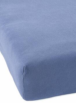 Простыня из трикотажа на резинке серо-голубой Elin