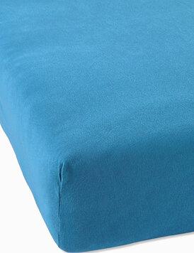 Трикотажная простыня на резинке голубой Elin