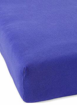 Детская простыня на резинке из трикотажа светло-синий Elin