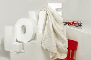 Нежный ангелочек хлопковое детское одеяло