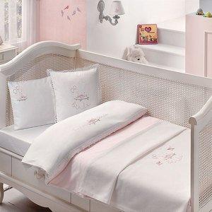 Детский комплект с покрывалом Happy babe розовый Tivolyo