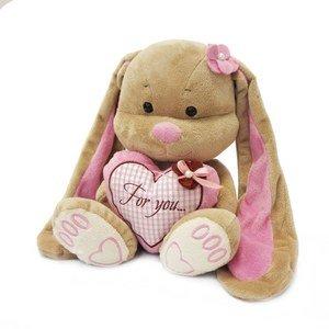 Мягкая игрушка JL001 Зайка Лин с сердцем Maxitoys