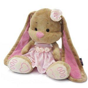 Мягкая игрушка JL002 Зайка Лин в розовом платье Maxitoys