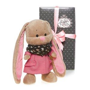 Мягкая игрушка JL004 Зайка Лин в розовом пальто Maxitoys