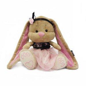 Мягкая игрушка JL006 Зайка Лин в розово-черном платьице Maxitoys