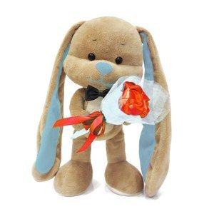 Мягкая игрушка JL013 Зайчик Жак с букетом Maxitoys