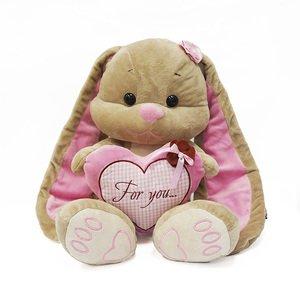 Мягкая игрушка MT-TS12201306 Зайка Лин с сердцем Maxitoys