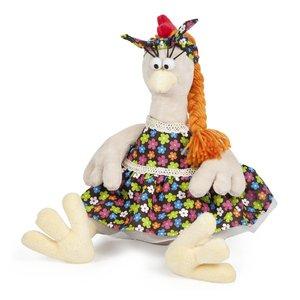 Мягкая игрушка Курочка в сарафане Maxitoys