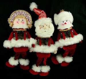 Новог. сувенир 175428 Дед Мороз/Снеговик/Снегу 55см 3вида в асс.