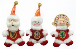 Новог. сувенир 175436 Дед Мороз/Снеговик/Снегу 32см 3вида в асс.