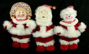Новог. сувенир 175437 Дед Мороз/Снеговик/Снегур 35см 3вида в асс.