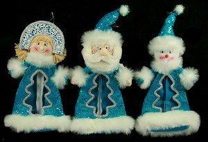 Новог. сувенир 175460 Дед Мороз/Снеговик/Снегур 35см 3вида в асс.