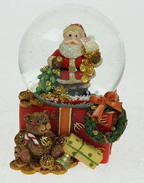 Шар 19403 водяной Дед Мороз с подарками 7 см .