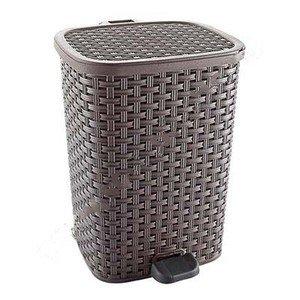 Контейнер для мусора с педалью, плетеный 01054 26 л