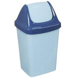 Контейнер для мусора М 2462Г СВИНГ голубой мрамор 15 л