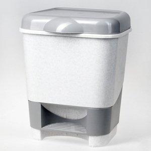 Контейнер для мусора с педалью, крышкой С 428  прямоугольная 20 л
