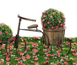 Велосипед кашпо 113-214 60*32*38 см