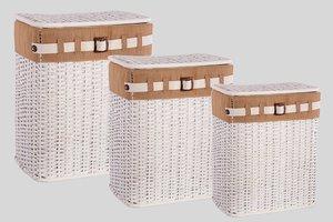 Корзина для белья с крышкой и чехлом 131-128/2, 43*30 см