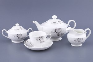 Чайный сервиз 133-184 на 6 персон 15 пр. 1200/ 220 мл.