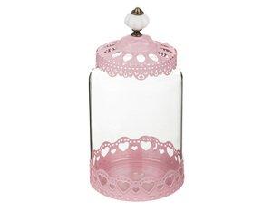 Банка для сыпучих продуктов 158-141 розовая 12*16 см