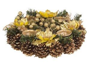 Подсвечник 161-139 декорированный на 4 свечи, 30 см