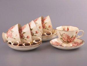 Чайный набор 215-020 на 6 персон 12 предметов