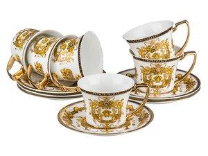 Чайный сервиз 215-276 на 6 персон 12 предметов, 200 мл