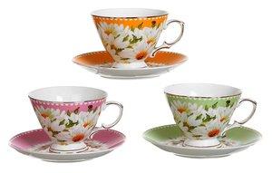 Чайный набор 275-730 на 1 персону 2 пр. 220 мл.3 вида в асс