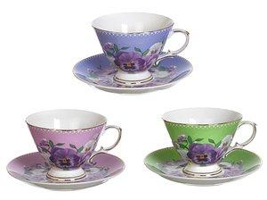 Чайный набор 275-732 на 1 персону 2 пр. 220 мл.три вида в асс