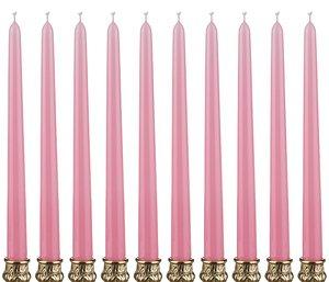 Набор свечей 348-375 нежно-розовый из 10 шт 29 см