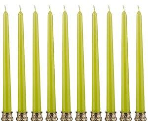 Набор свечей 348-376 фисташковый из 10 шт 29 см