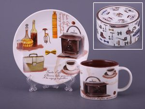 Чайный набор 356-064 на 1 персону 2 пр. 175 мл