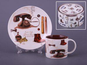 Чайный набор 356-066 на 1 персону 2 пр. 175 мл