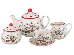 Чайный сервиз 388-406 на 6 персон 15пр. 200, 1000 мл